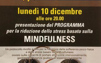 10 dicembre 2018 Presentazione Mindfulness